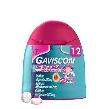 Gaviscon Extra Chewable Tablets 12 Pack