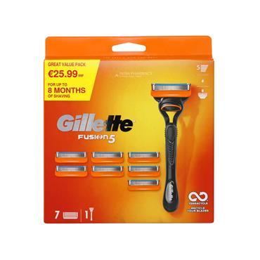 Gillette Fusion 5 Razor & 7 Blades Bulk Pack