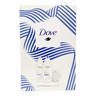 Dove Nourishing Beauty Duo Giftset With Shower Puff