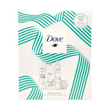 Dove Relaxing Care Trio Giftset With Shower Puff