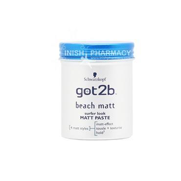 Schwarzkopf Got2b Beach Matt Surfer Look Matt Paste 100ml