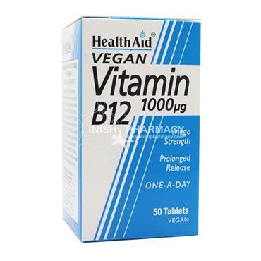 Health Aid Vegan Vitamin B12 1000UG 50 Pack