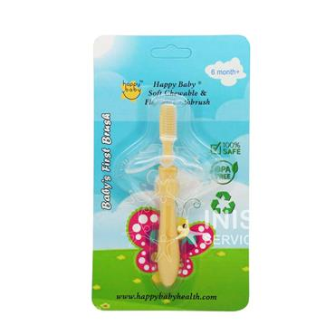 Happy Baby Baby 1st Toothbrush - Yellow 6mths +