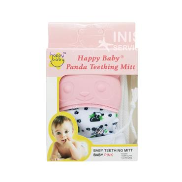 Happy Baby Panda Teething Mitt Pink