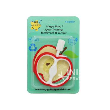 Happy Baby Apple Training Toothbrush & Teether Red 4 Months+