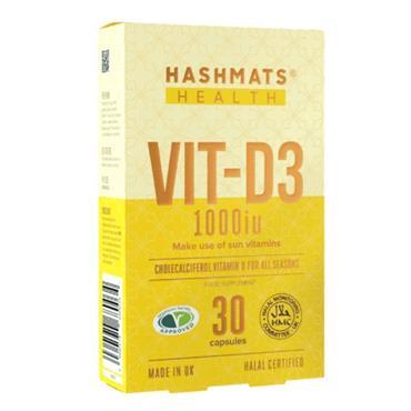Hashmats Healthy Vit-D3 1000iu 30 Capsules