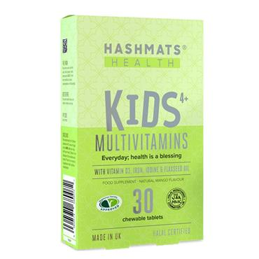 Hashmats Healthy Kids 4+ Multivitamins (Mango) 30 Chewable Tablets
