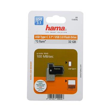 Hama C-Turn USB 3.0 & Type-C 32GB Flash Drive