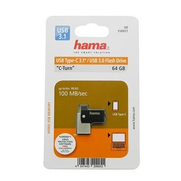 Hama C-Turn USB 3.0 & Type-C 64GB Flash Drive