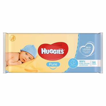 Huggies Baby Wipes Pure 56 Pack