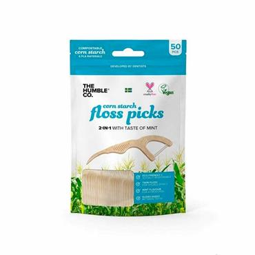 The Humble Co. Floss Picks Blue 50 Pack