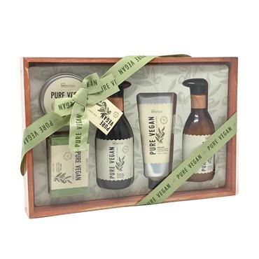 IDC Institute Pure Vegan Olive Wooden 5 Piece Giftset