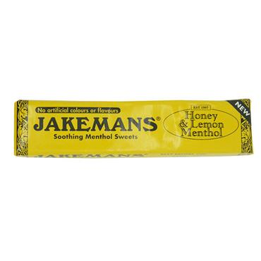 Jakemans Honey & Lemon Menthol Soothing Menthol Sweets Stick Pack 41g
