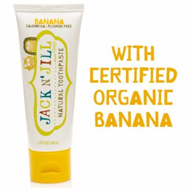 Jack N' Jill Natural Toothpaste Banana Flavour 50g