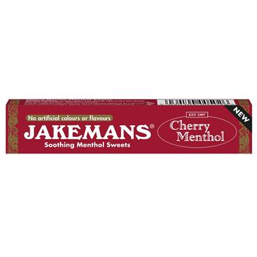 Jakemans Cherry Menthol Soothing Menthol Sweets Stick 41g