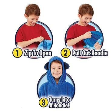 Huggle Pets Animal Hoodie - Blue
