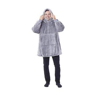 Sherpa Blanket Hoodie  - Grey
