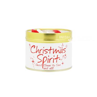 Lily Flame Candle In A Tin Spirit of Christmas