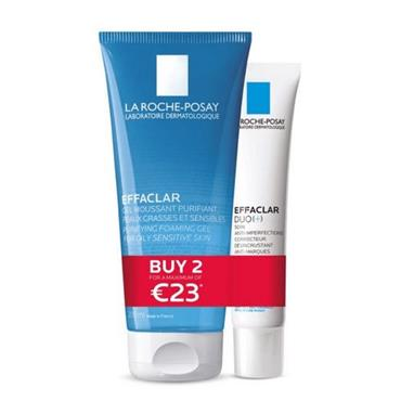 La Roche Posay Effaclar Purifying Cleansing Gel & Effaclar Duo Special Offer Pack