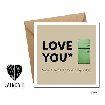 Lainey K - Love You Greeting Card