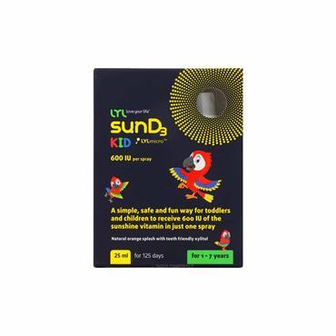 LYL Kids SunD3 600iu Spray 25ml