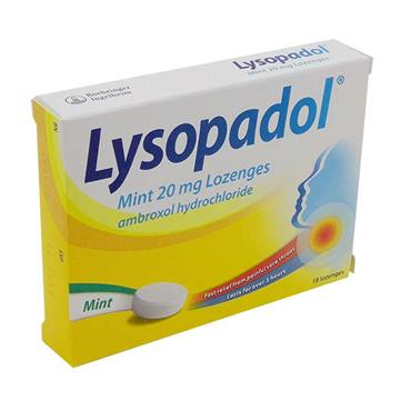 Lysopadol Mint Sore Throat Lozenges 18 Pack