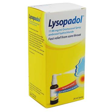 Lysopadol Sore Throat Spray 20ml