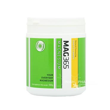 MAG365 Magnesium Exotic Lemon Natural Flavour Food Supplement 300g