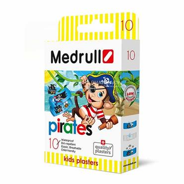 Medrull Pirates Plasters for kids 10 Pack