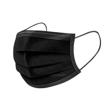 Medrull 3 Ply Face Masks Black - 5 Pack