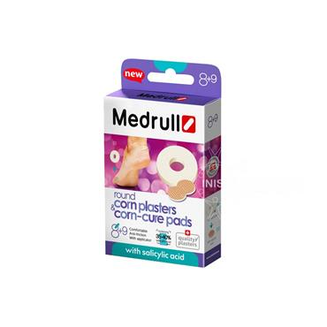 Medrull Round Corn Plasters & Corn-Cure Pads 8 & 9 Pack