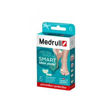 Medrull Hydrocolloid Smart Blister Plaster 6 Pack Medium & Small