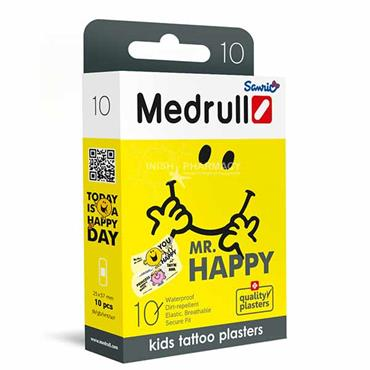 Medrull Mr. Happy Plasters for kids 10 Pack