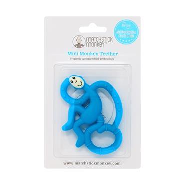 Matchstick Monkey Mini Monkey Teether Blue