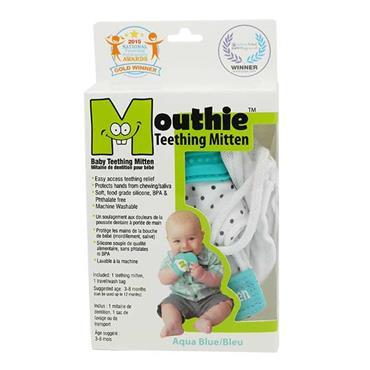 Mouthie Mitten Aqua Blue Age 3 - 8 Months