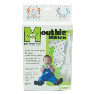 Mouthie Mitten Green Age 3 - 8 Months