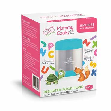 Mummy Cooks Insulated Food Flask Blue