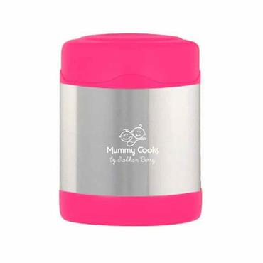 Mummy Cooks Insulated Food Flask Pink