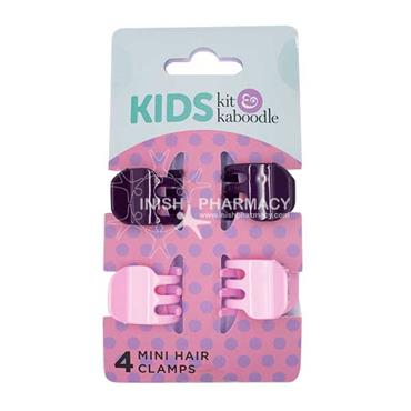 Kit & Kaboodle  Mini Hair Clamps 4 Pack
