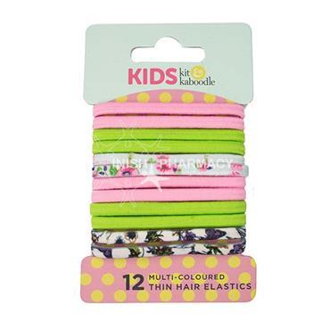 Kit & Kaboodle Multi Colour Thin Elastics 12 Pack