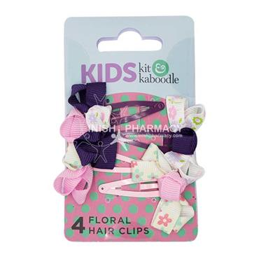 Kit & Kaboodle Floral Hair Grips 4 Pack