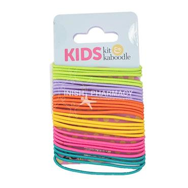Kit & Kaboodle Assorted Coloured Thin Elastics 28 Pack