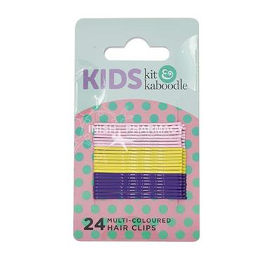 Kit & Kaboodle Multi Colour Hair Clips 24 Pack