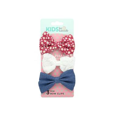 Kit & Kaboodle 3 Pack Fabric Bow Clips