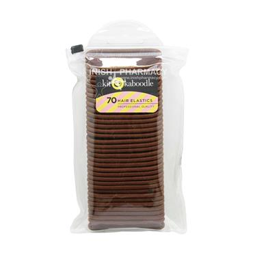Kit & Kaboodle 70 Hair Elastics Brown