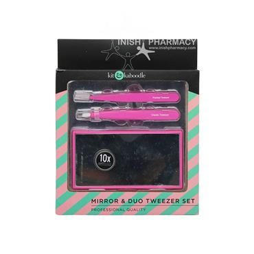 Kit & Kaboodle 2 Pack Tweezer & Mirror Set