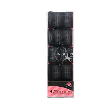 Kit & Kaboodle Black Velcro Rollers Large 4 Pack