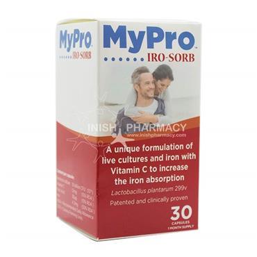 MyPro Iro-Sorb Iron Folic Acid & Vitamin C x 30 Capsules