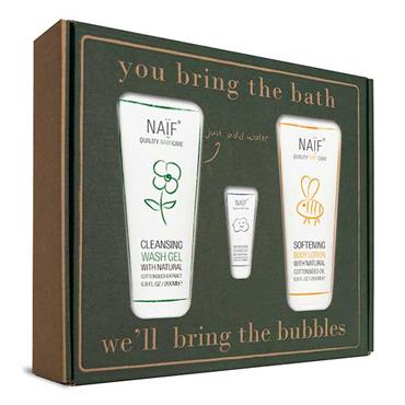 NAIF The Bubbles Baby Care Bath 3 Piece Gift Set