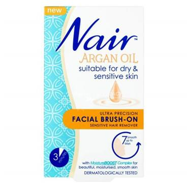 Nair Nourish Facial Brush On Hair Remover With Argan Oil 50ml